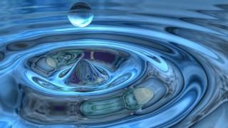 3d drop of water